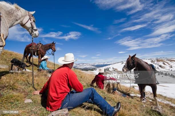 rocky mountain horseback riding landscape