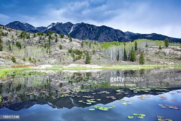 rocky mountain lake landscape