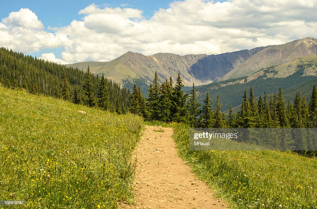 Rocky Mountain Summer Hiking : Stock Photo