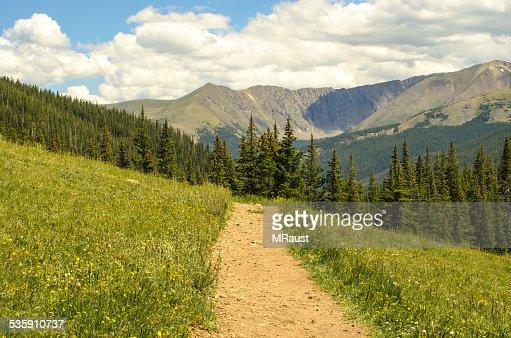 Rocky Mountain Summer Hiking : Stock Photo