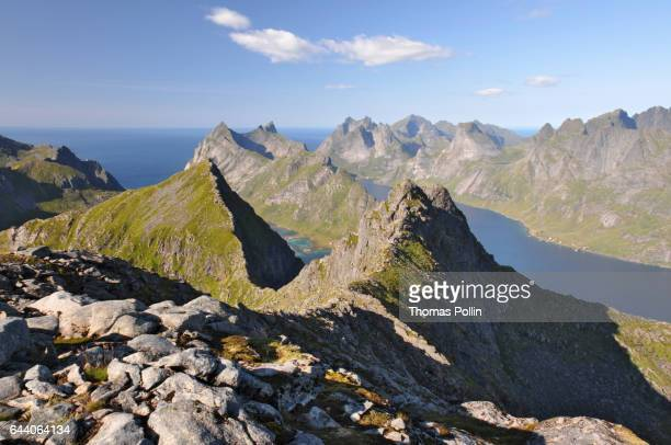 Rocky moutains, fjords and Norwegian sea