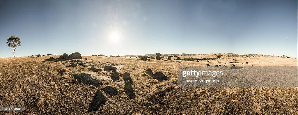 rocky outcrop in Australian landscape