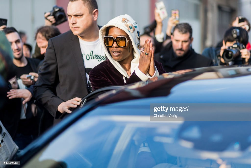 Rocky outside Gucci on February 22, 2017 in Milan, Italy.