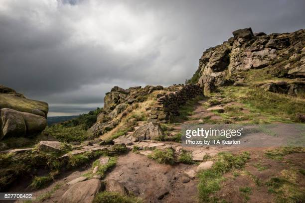 Rocky path at The Roaches, Staffordshire, ENgland