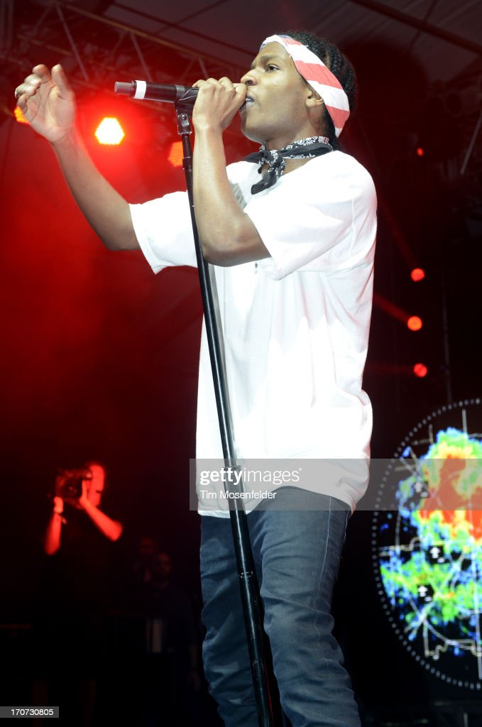 Rocky performs as part of Day 4 of the Bonnaroo Music And Arts Festival on June 16, 2013 in Manchester, Tennessee.