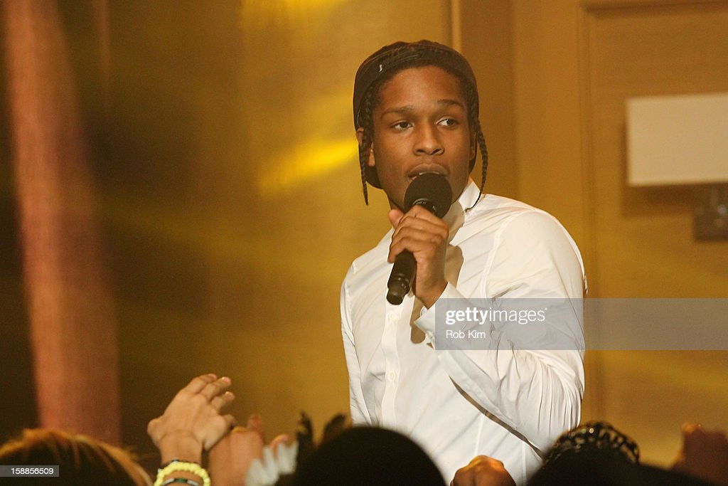Rocky performs at BET's '106 & Party' 2013 New Years Eve party at BET Studios on December 17, 2012 in New York City.