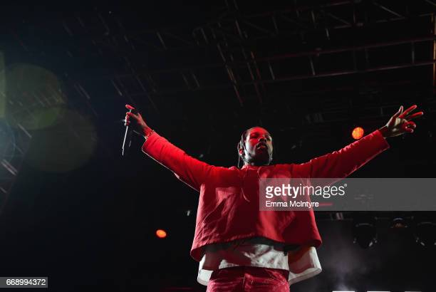 Rocky performs at the Mojave Tent during day 2 of the Coachella Valley Music And Arts Festival at the Empire Polo Club on April 15 2017 in Indio...