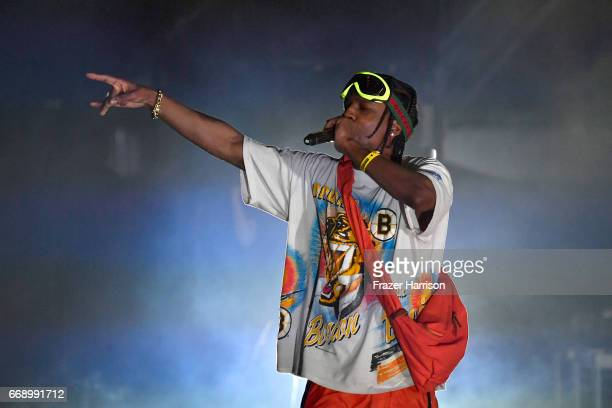 Rocky performs at the Outdoor Stage during day 2 of the Coachella Valley Music And Arts Festival at the Empire Polo Club on April 15 2017 in Indio...