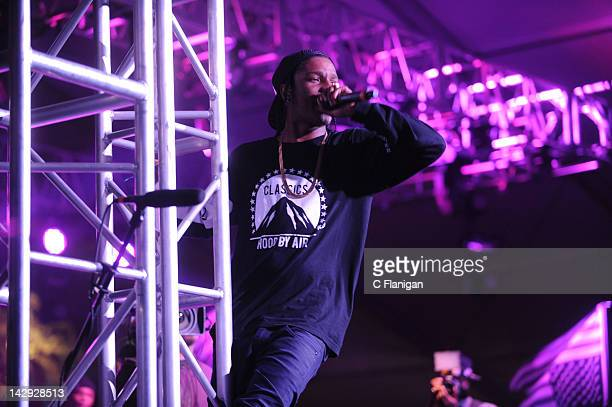 Rocky performs during day 2 of the 2012 Coachella Music Festival at The Empire Polo Club on April 14 2012 in Indio California