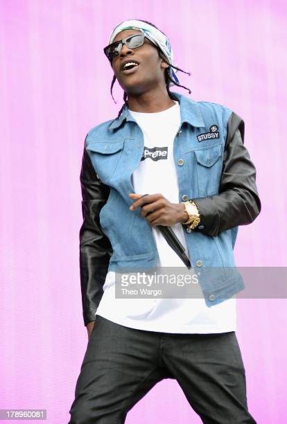 Rocky performs during the 2013 Budweiser Made In America Festival at Benjamin Franklin Parkway on August 31 2013 in Philadelphia Pennsylvania