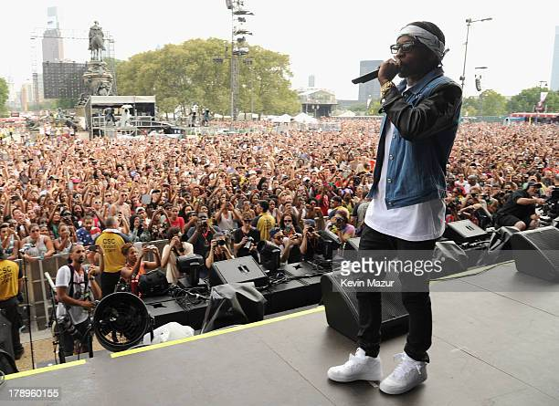 ASAP Rocky performs during the 2013 Budweiser Made In America Festival Benjamin Franklin Parkway on August 31 2013 in Philadelphia Pennsylvania