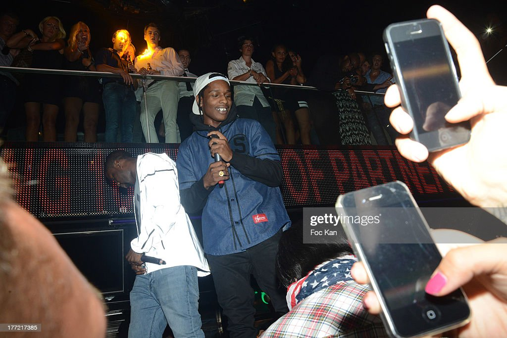 Rocky performs during the ASAP Rocky Party at the VIP Room on August 21, 2013 in Saint Tropez, France.