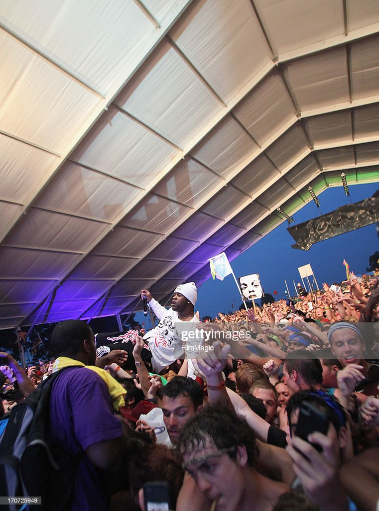 Rocky performs onstage at The Other Tent during day 4 of the 2013 Bonnaroo Music & Arts Festival on June 16, 2013 in Manchester, Tennessee.