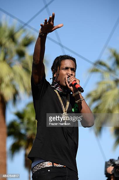Rocky performs onstage during day 1 of the 2014 Coachella Valley Music Arts Festival at the Empire Polo Club on April 11 2014 in Indio California