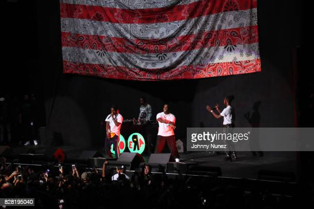 A$AP Rocky Powers Pleasant A$AP Ferg and Joey Bada$$ perform at Barclays Center on August 8 2017 in New York City