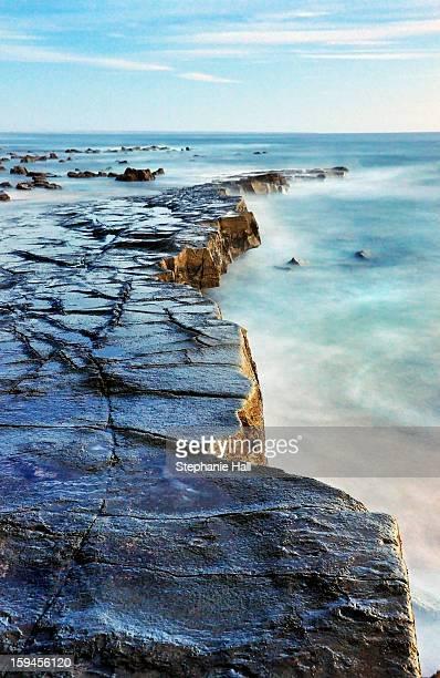 Rocky shelf at Twin Reefs beach.