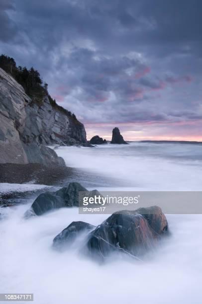 Rocky shore waves