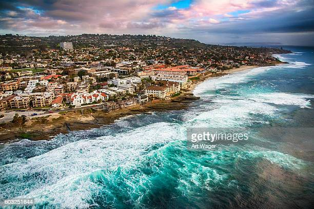 Rocky Shoreline of La Jolla California From Above