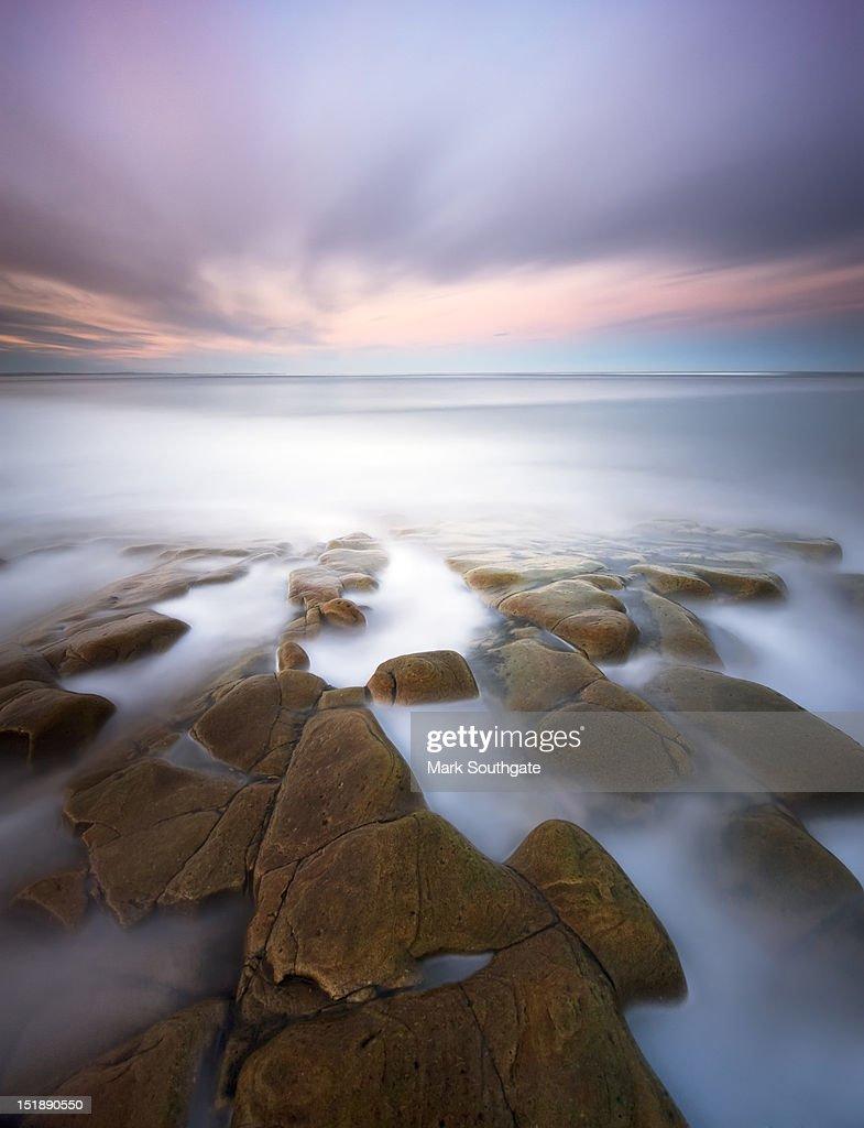 Rocky shoreline : Stock Photo