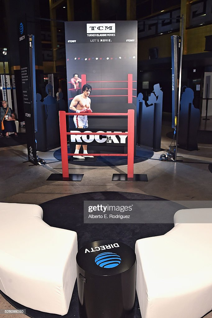 'Rocky' signage on display in the lobby of the theater for 'Lassie Come Home' during day 2 of the TCM Classic Film Festival 2016 on April 29, 2016 in Los Angeles, California. 25826_006