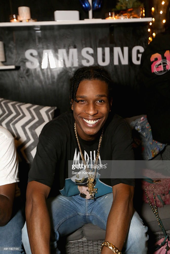 Rocky stops by the Samsung Galaxy Owner's Lounge during Austin City Limits on October 3, 2015 in Austin Texas.
