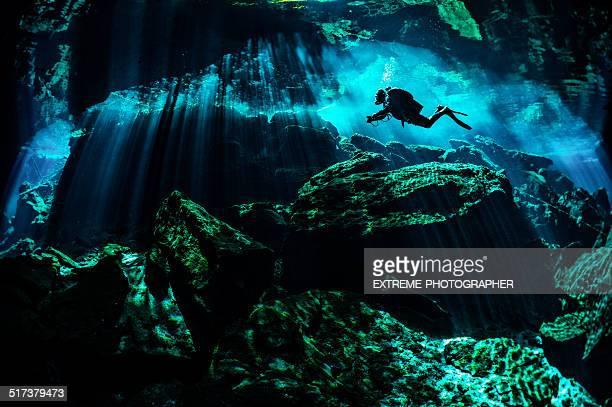 Rocky underwater places