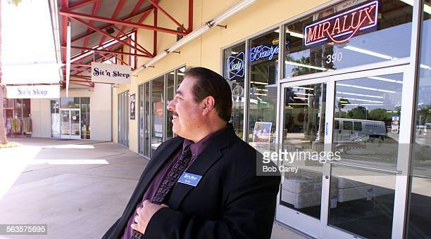 Rocky Valdez manager of the Sit'n Sleep store at the Oxnard Factory Outlet stands out side the store and talks about the future of the outlet mall...
