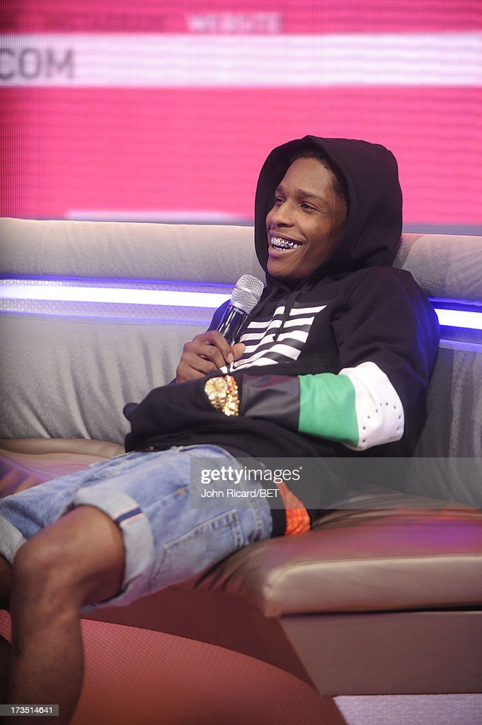 Rocky visits BET's 106 & Park at BET Studios on July 15, 2013 in New York City.