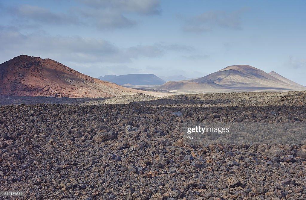 Rocky volcanic landscape, Lanzarote, Canary Islands, Spain