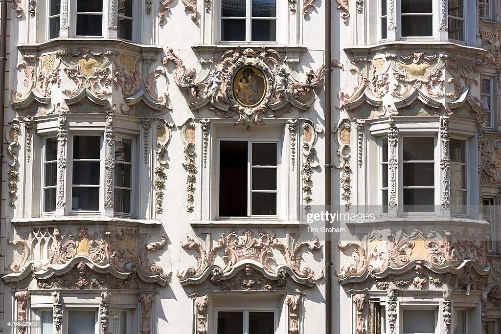 Rococo baroque style tyrolean architecture of holblinghaus for Architecture rococo