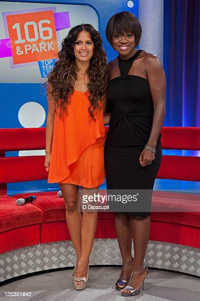 Rocsi and actress Viola Davis visit BET's '106 Park' at BET Studios on August 4 2011 in New York City