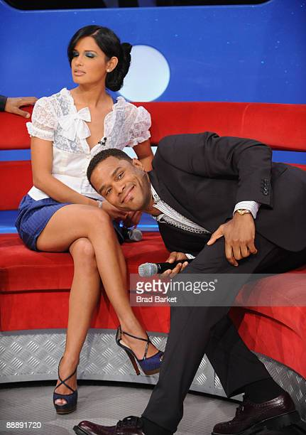 Rocsi and Maxwell visits BET's 106 Park at the BET Studios on July 7 2009 in New York City