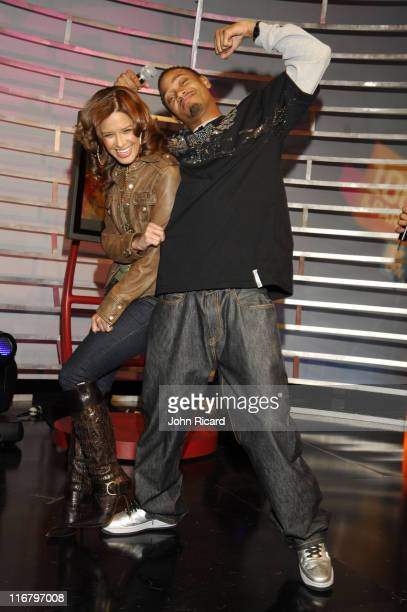 Rocsi and Terrence J during Young Jeezy Visits BET's '106 Park' February 08 2007 at BET Studios in New York City New York United States
