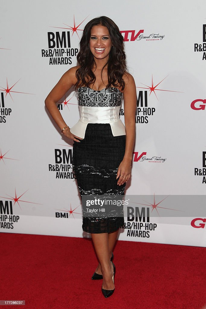<a gi-track='captionPersonalityLinkClicked' href=/galleries/search?phrase=Rocsi&family=editorial&specificpeople=747177 ng-click='$event.stopPropagation()'>Rocsi</a> attends BMI's 2013 R&B/Hip-Hop Awards at The Manhattan Center on August 22, 2013 in New York City.