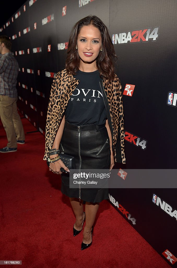 Rocsi attends the NBA 2K14 premiere party at Greystone Manor on September 24, 2013 in West Hollywood, California.