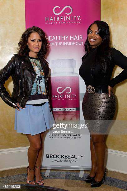 Rocsi Diaz and Kandi Burruss attend the All Star Brunch hosted by Kandi Burruss and Rocsi Diaz during NBA AllStar Weekend 2014 at The RitzCarlton New...