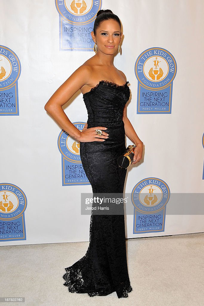 Rocsi Diaz arrives at Let The Kids Grow Foundation Holiday Gala at the Beverly Wilshire Four Seasons Hotel on December 1, 2012 in Beverly Hills, California.