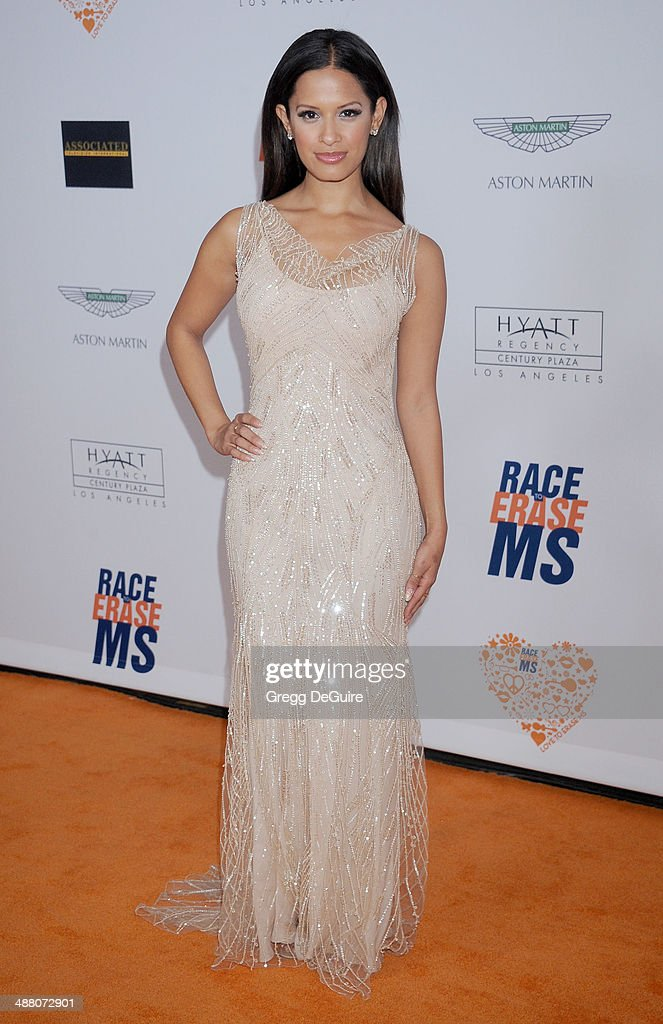 <a gi-track='captionPersonalityLinkClicked' href=/galleries/search?phrase=Rocsi&family=editorial&specificpeople=747177 ng-click='$event.stopPropagation()'>Rocsi</a> Diaz arrives at the 21st Annual Race To Erase MS Gala at the Hyatt Regency Century Plaza on May 2, 2014 in Century City, California.