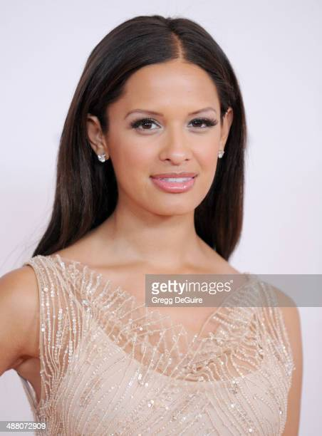 Rocsi Diaz arrives at the 21st Annual Race To Erase MS Gala at the Hyatt Regency Century Plaza on May 2 2014 in Century City California