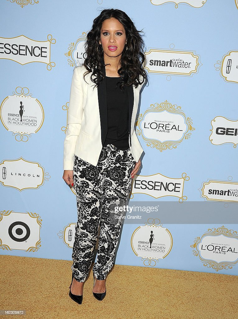Rocsi Diaz arrives at the 6th Annual ESSENCE Black Women In Hollywood Luncheon at Beverly Hills Hotel on February 21, 2013 in Beverly Hills, California.