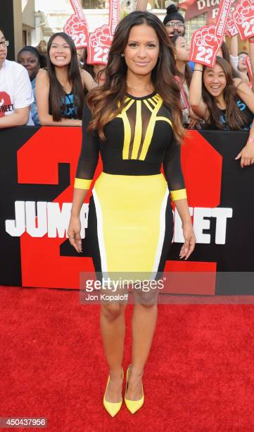 Rocsi Diaz arrives at the Los Angeles Premiere '22 Jump Street' at Regency Village Theatre on June 10 2014 in Westwood California