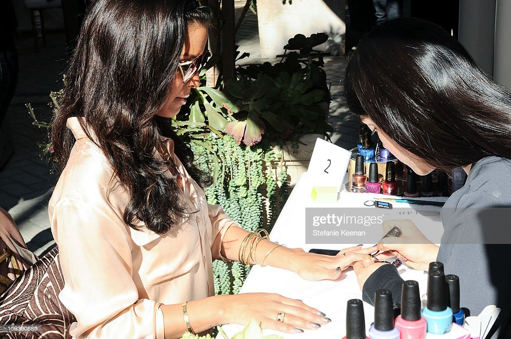 Rocsi Diaz attends 2013 InStyle Beauty Lounge - Day 2 at Four Seasons Hotel Los Angeles at Beverly Hills on January 12, 2013 in Beverly Hills, California.