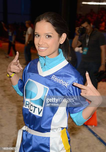 Rocsi Diaz attends DIRECTV'S 7th Annual Celebrity Beach Bowl at DTV SuperFan Stadium at Mardi Gras World on February 2 2013 in New Orleans Louisiana