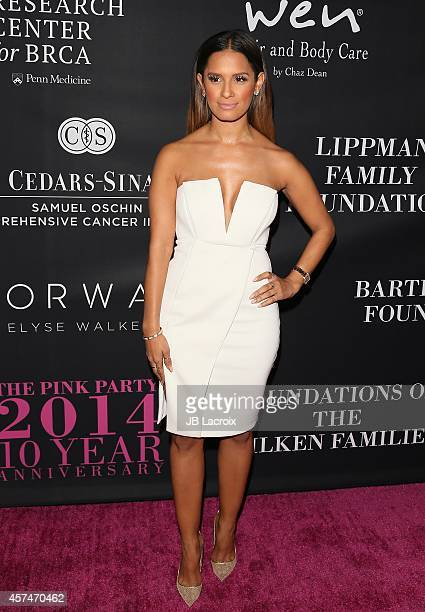 Rocsi Diaz attends Elyse Walker presents the 10th anniversary Pink Party hosted by Jennifer Garner and Rachel Zoe at HANGAR 8 on October 18 2014 in...