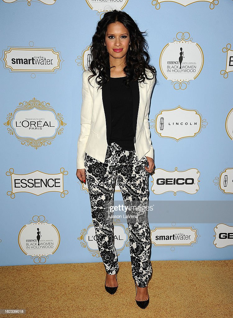 <a gi-track='captionPersonalityLinkClicked' href=/galleries/search?phrase=Rocsi&family=editorial&specificpeople=747177 ng-click='$event.stopPropagation()'>Rocsi</a> Diaz attends the 6th annual ESSENCE Black Women In Hollywood awards luncheon at Beverly Hills Hotel on February 21, 2013 in Beverly Hills, California.