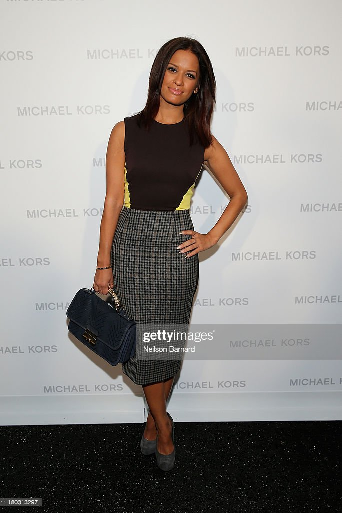 <a gi-track='captionPersonalityLinkClicked' href=/galleries/search?phrase=Rocsi&family=editorial&specificpeople=747177 ng-click='$event.stopPropagation()'>Rocsi</a> Diaz poses backstage at the Michael Kors fashion show during Mercedes-Benz Fashion Week Spring 2014 at The Theatre at Lincoln Center on September 11, 2013 in New York City.