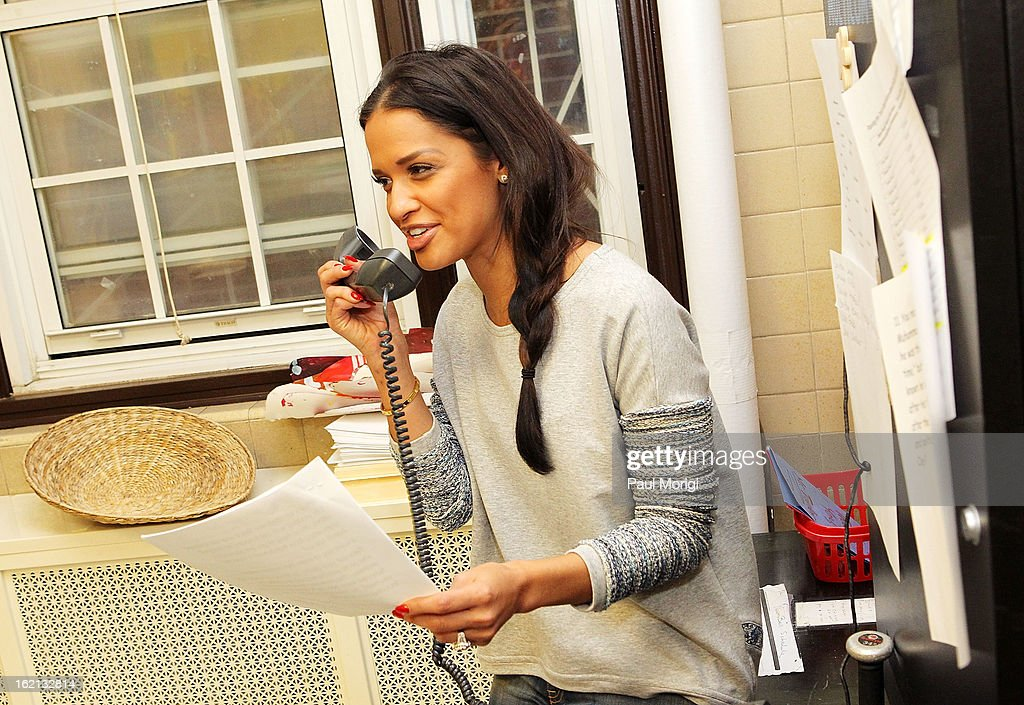 Rocsi Diaz visits Browne Education Campus during the Get Schooled Victory Tour on February 19, 2013 in Washington, DC.