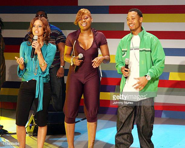 Rocsi Fantasia and Terrence during Fantasia and Colombus Short Visit BET's '106 Park' January 25 2007 at BET Studios in New York City New York United...