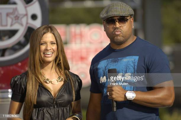 Rocsi from BET's 106 Park and director Bryan Barber attend the 106 Park preshow before the BET Hip Hop Awards 2007 at the Atlanta Civic Center on...