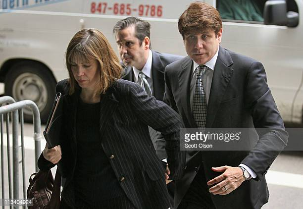 Rod Blagojevich and his wife Patti arrive at the federal courthouse where opening remarks are expected to be delivered at the former Illinois...